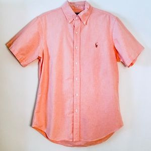 Ralph Lauren | Orange Short Sleeve Oxford Button